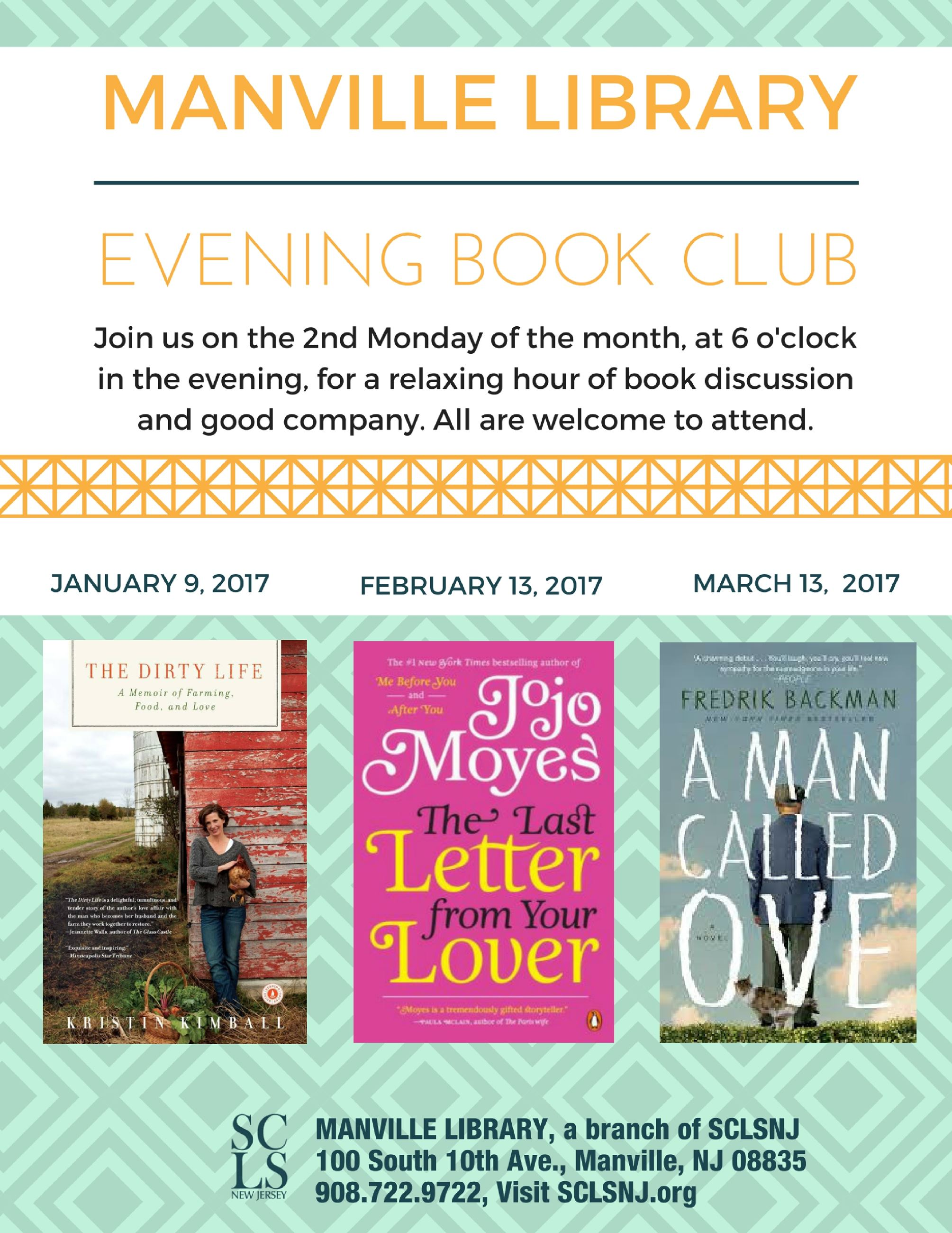 Evening Book Club Flyer Jan-March 2017