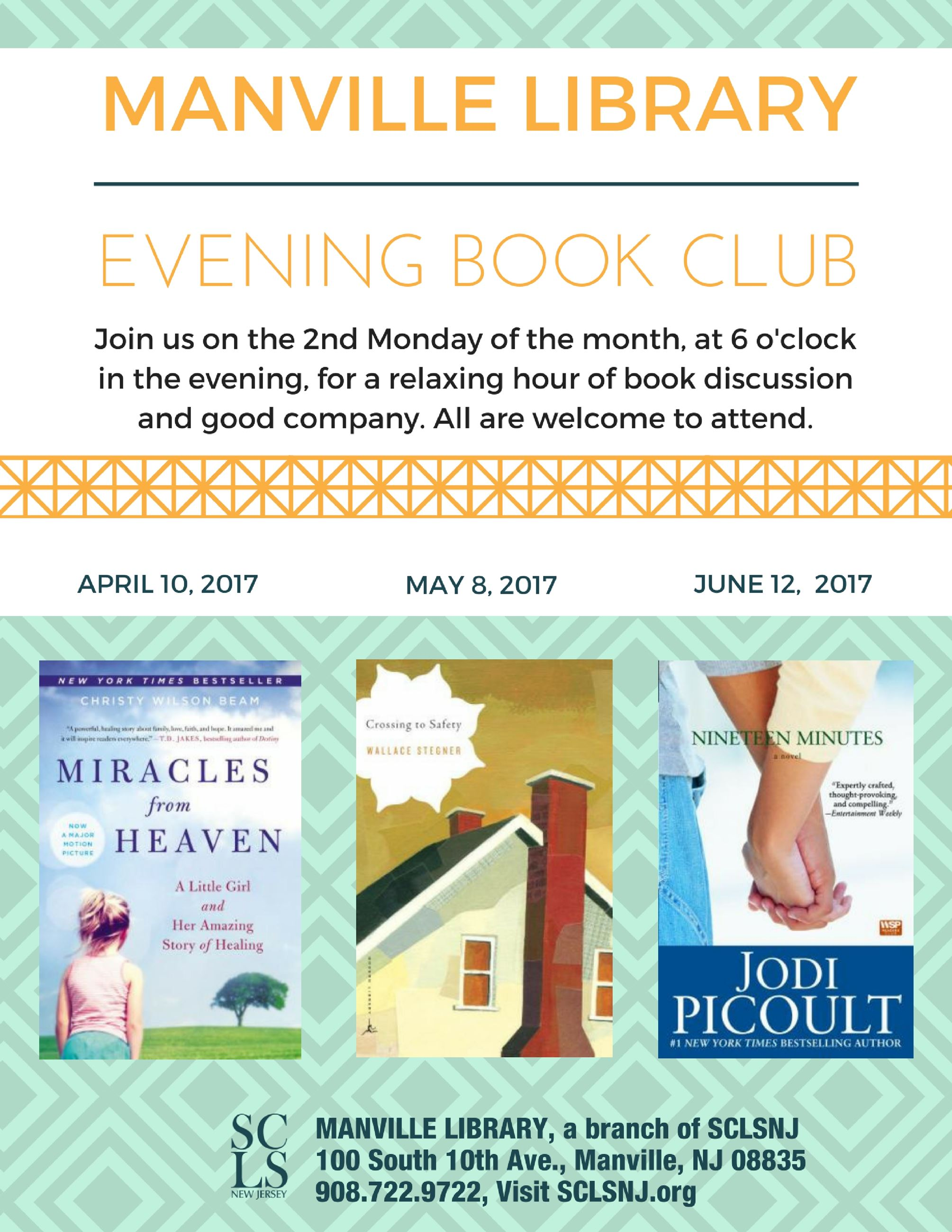 Evening Book Club Flyer Apr-May 2017