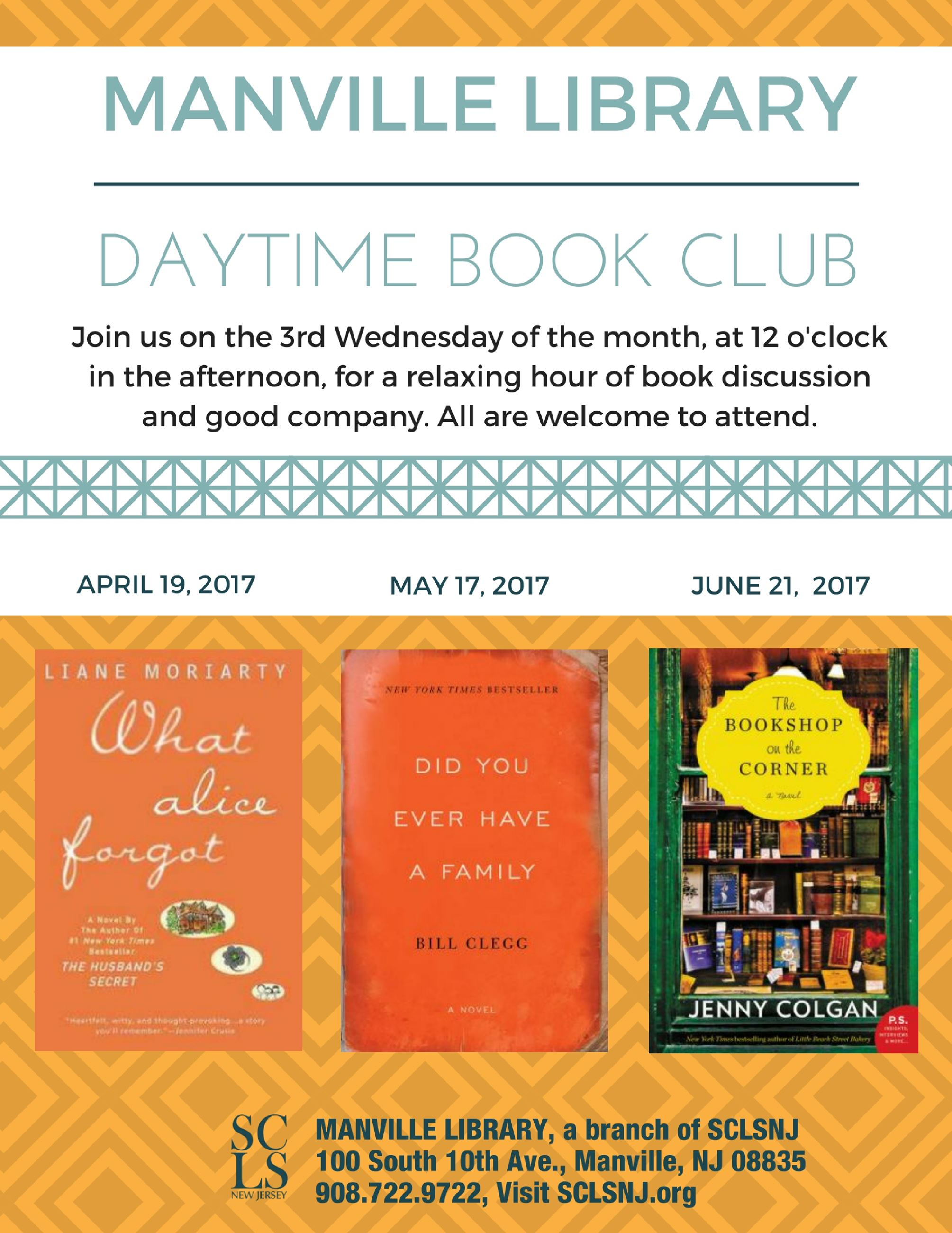 Daytime Book Club Flyer Apr-May 2017
