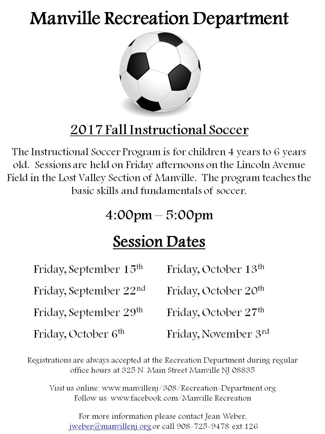 2017 Fall Instructional Soccer