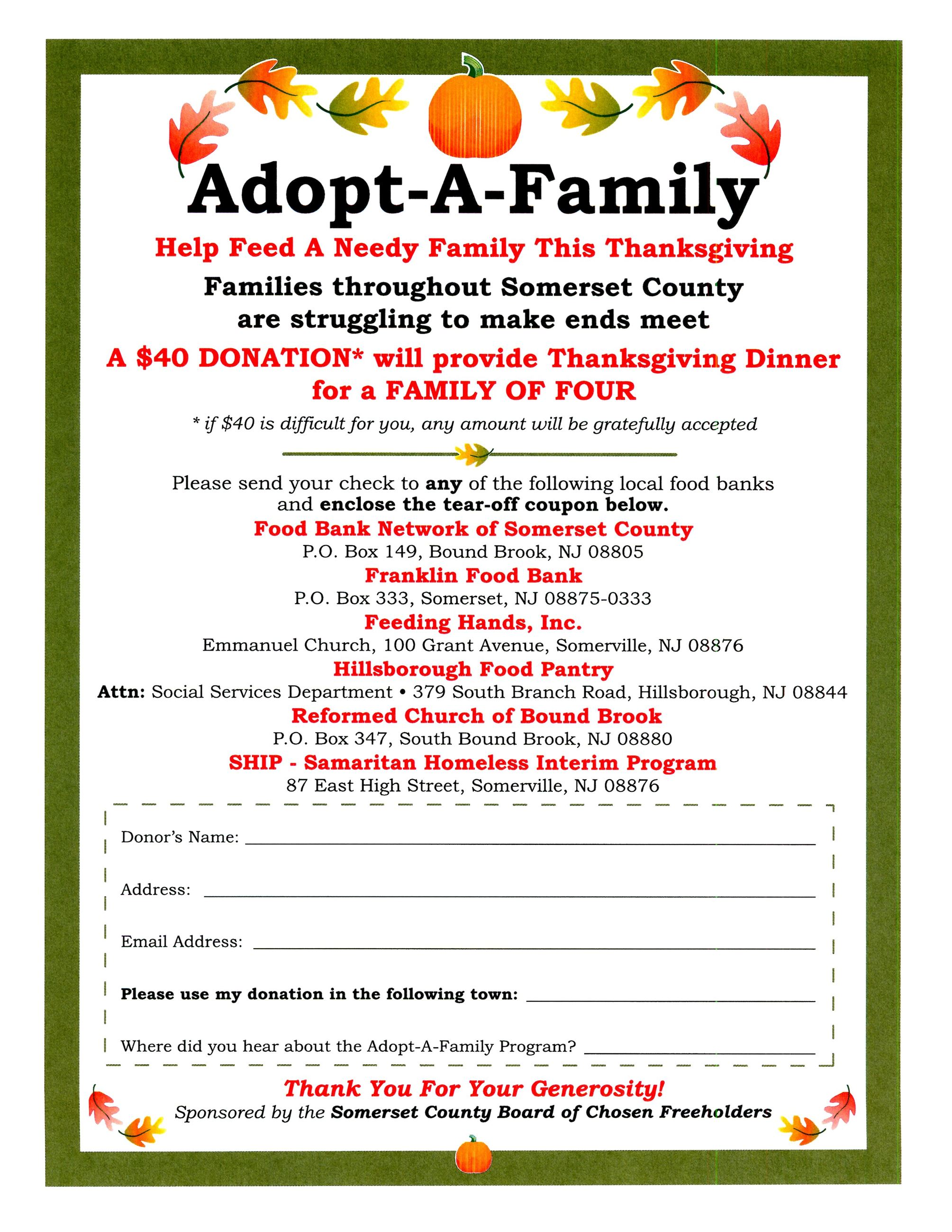 Adopt a Family Flyer