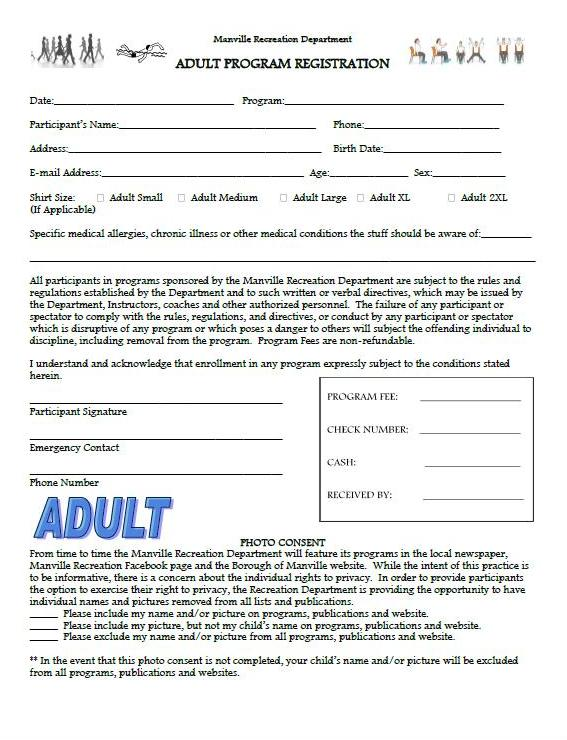 Adult Registration Form