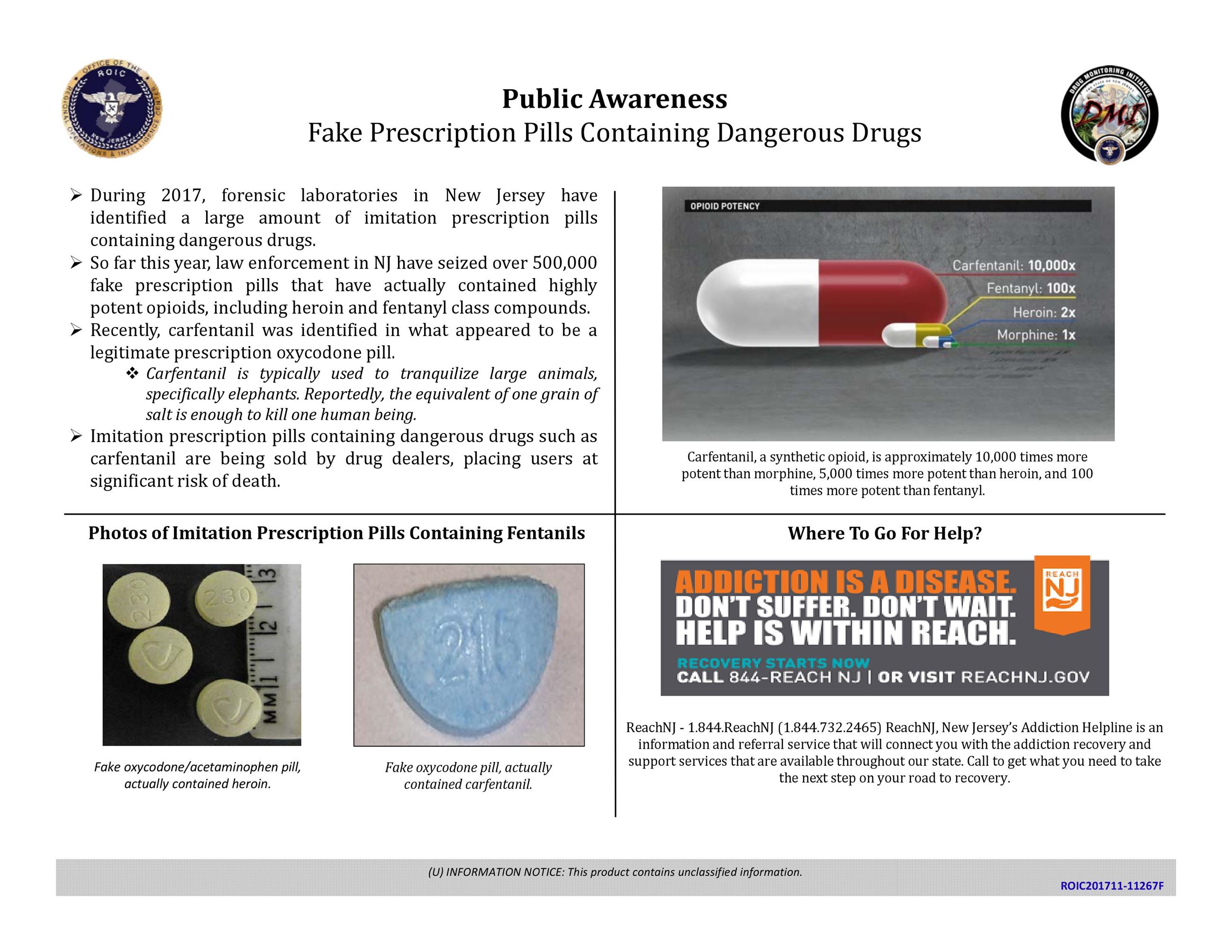 Public Awareness Fake Prescription Pills Containing Dangerous Drugs Final