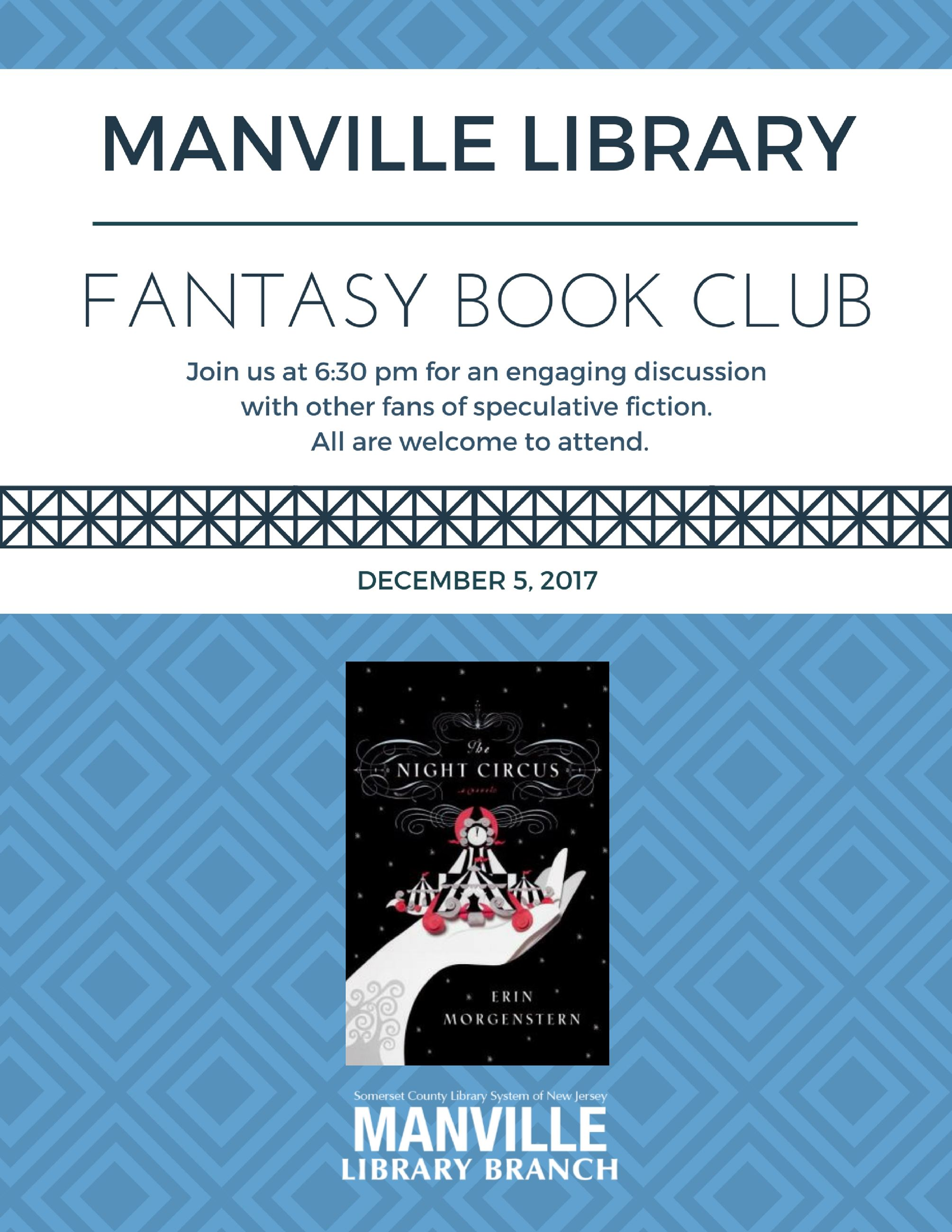 Fantasy Book Club Flyer Dec 2017