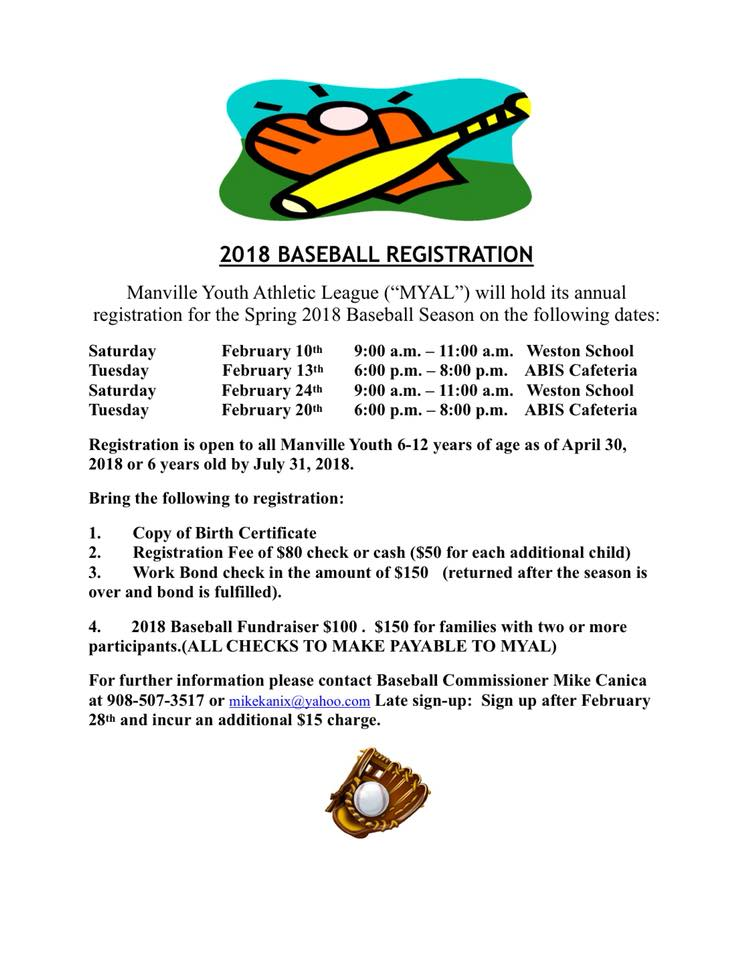 2018 Spring Baseball Registration