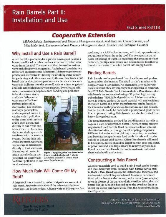 Rain Barrels Part II