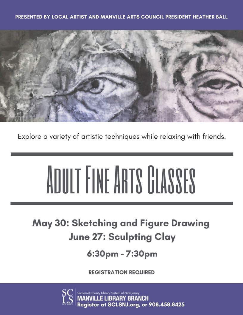 Adult Fine Arts Classes May June 2018