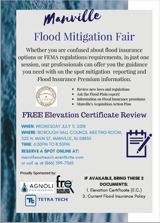 Flood Mitigation Fair Manville Borough Nj Official Website