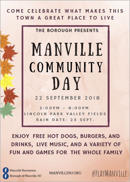 Manville Community Day Flyer JPG