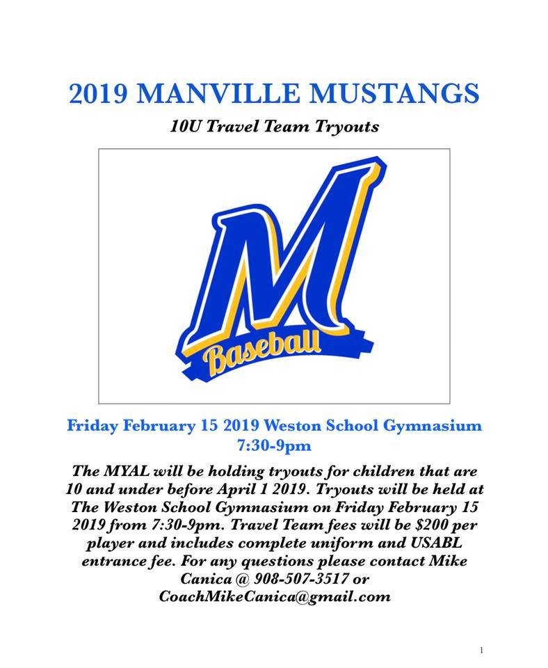 2019 MYAL Tryouts