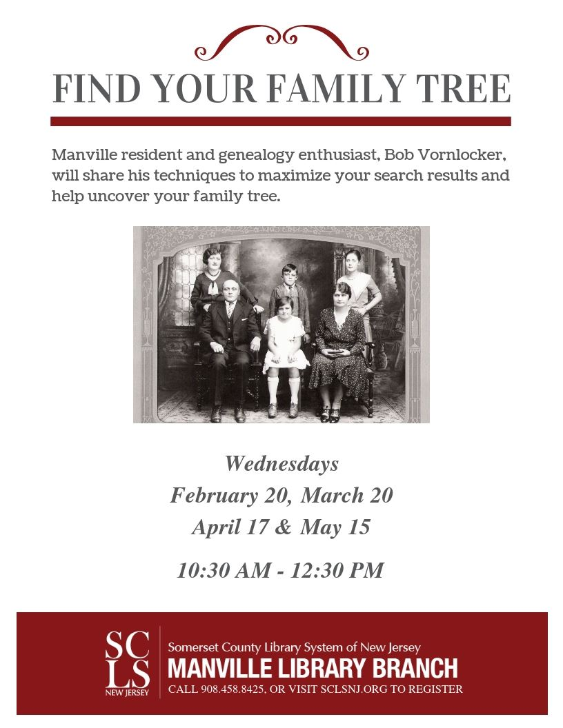 Find Your Family Tree February-May 2019