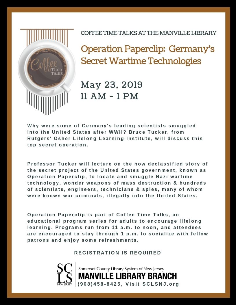 Coffee Time Talks - Operation Paperclip