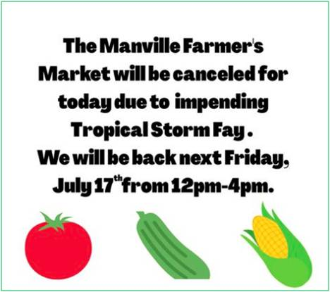 Farmers Market Cancelled