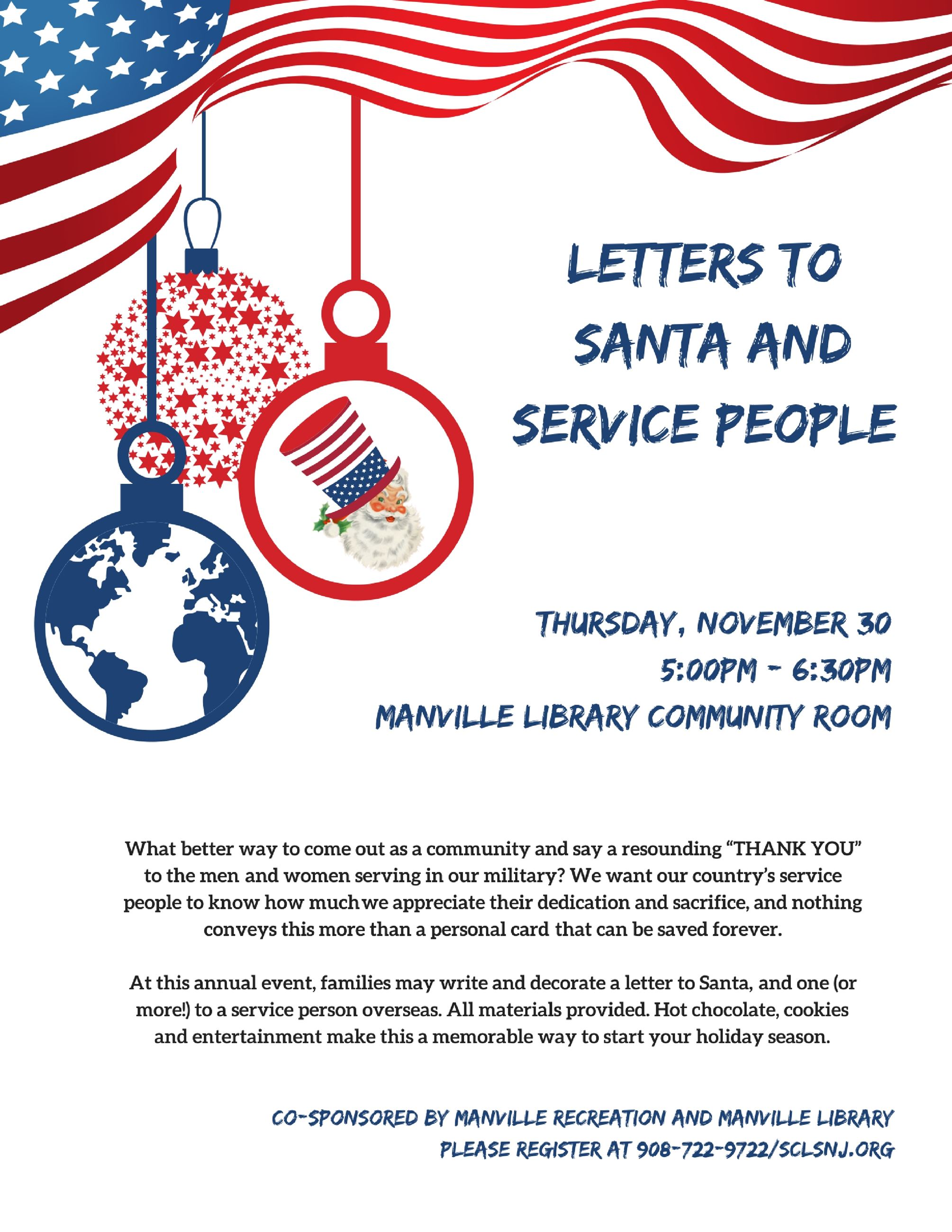 Manville borough nj official website letters to santa and service people 2017 spiritdancerdesigns Gallery
